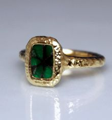 Gold & Green Ring